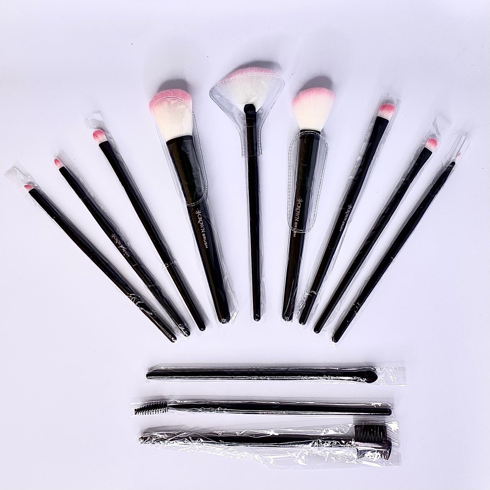 12PC Pink Vegan Set CBP1 - Crown Brush