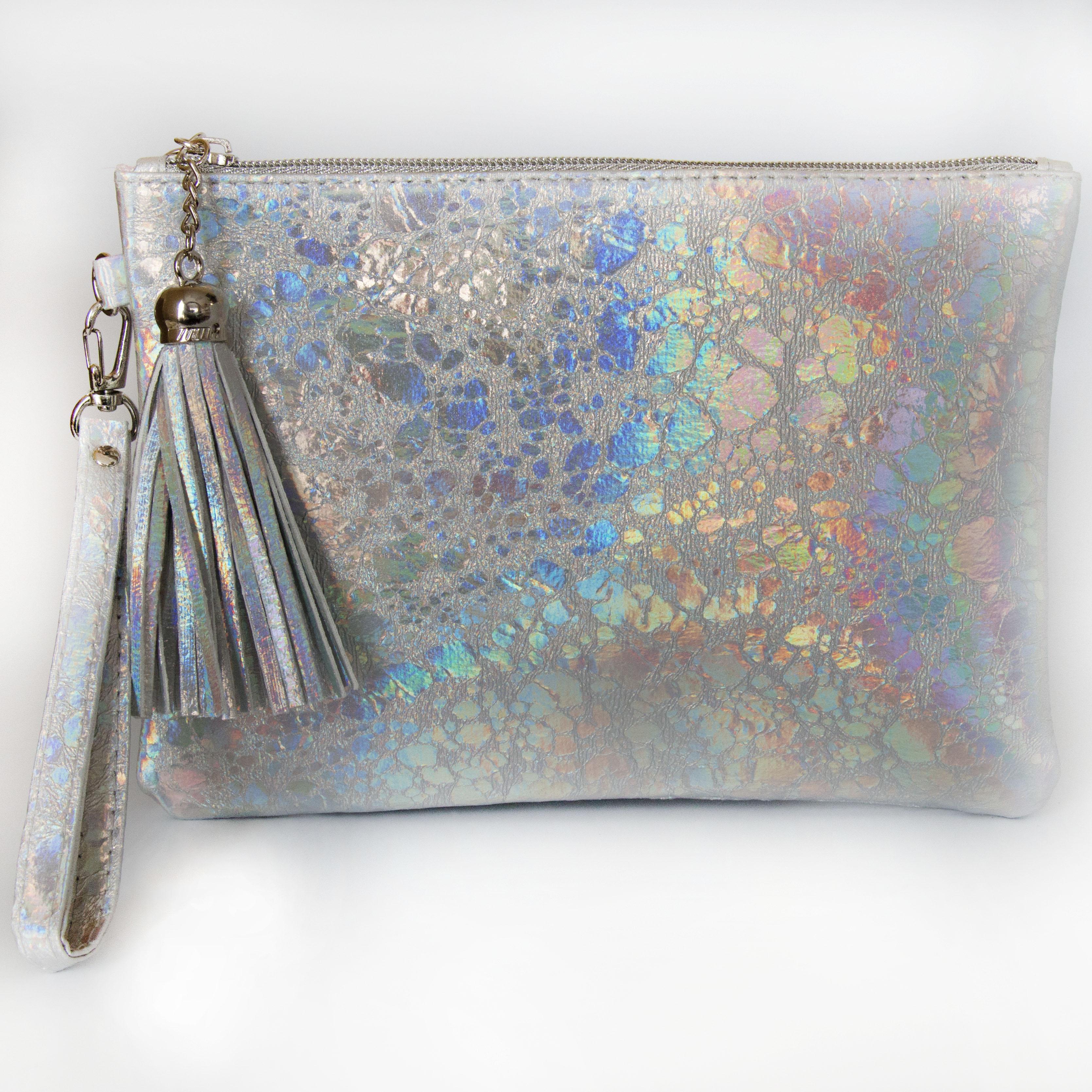 96f2b4bd71 Silver Hologram Makeup Bag