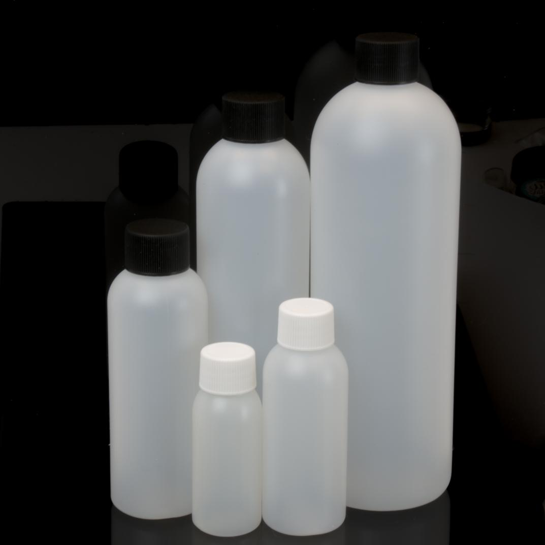 HDPE Plastic Cosmo Round Bottles