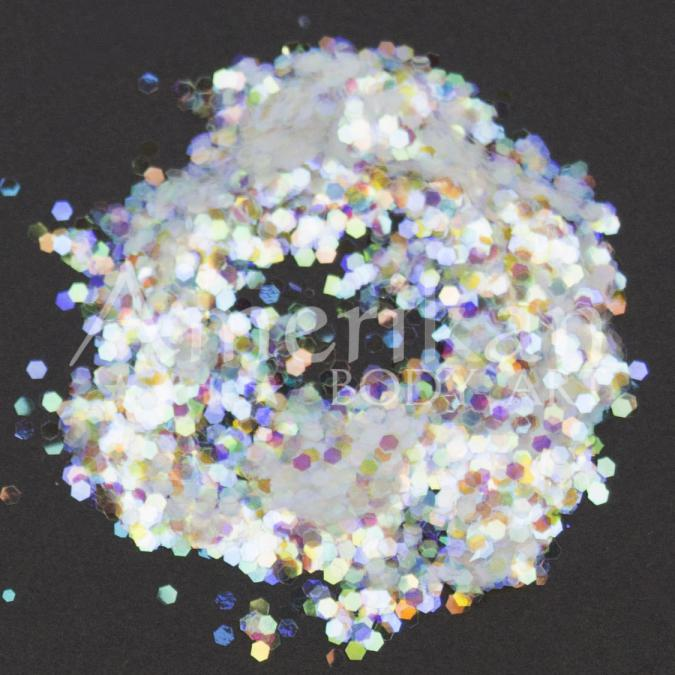Holographic White Chunky Glitter (0.062