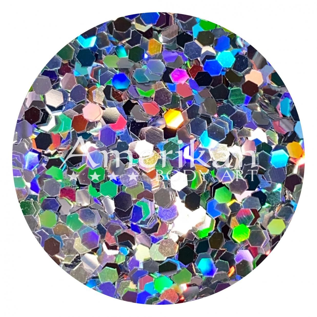 Holographic Silver Chunky Glitter (0.062