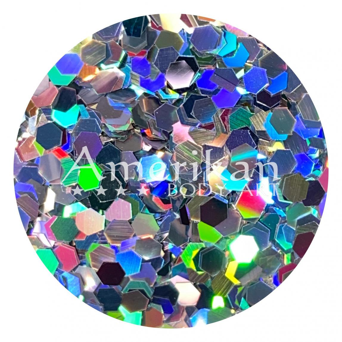 Holographic Silver Chunky Glitter (0.094