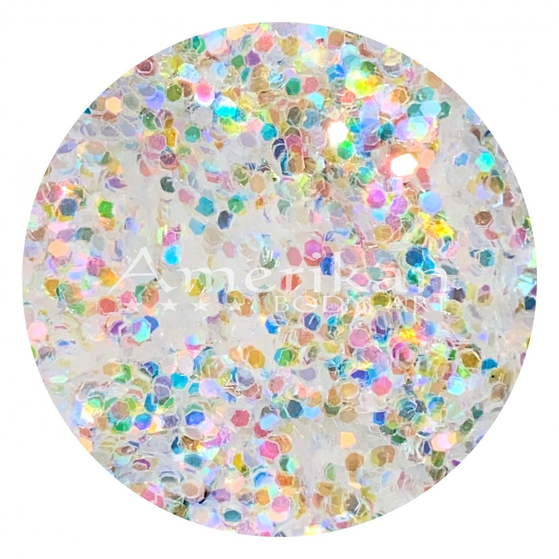 Holographic White Chunky Glitter (0.040