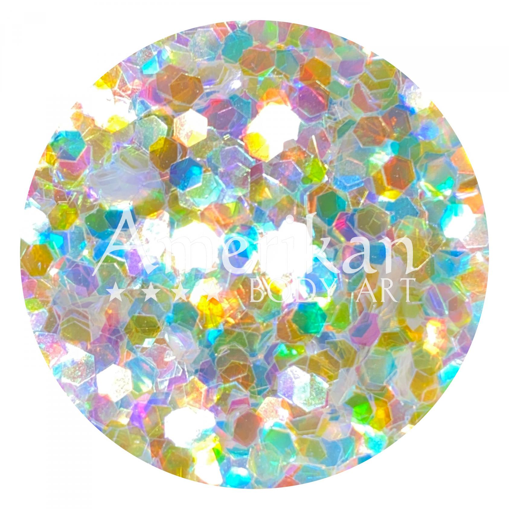 Holographic White Chunky Glitter (0.094