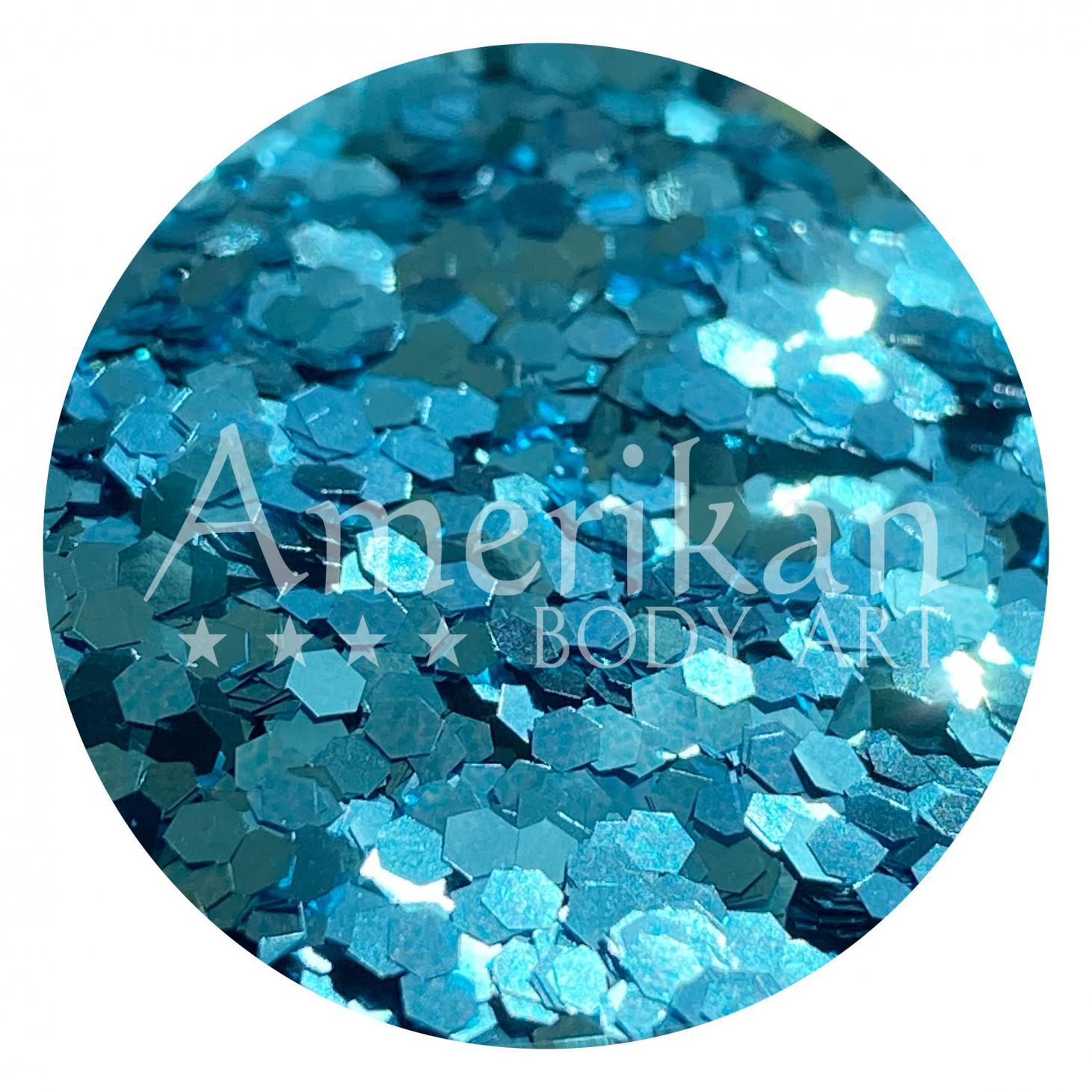 Skye Blue Chunky Glitter .062 Hex