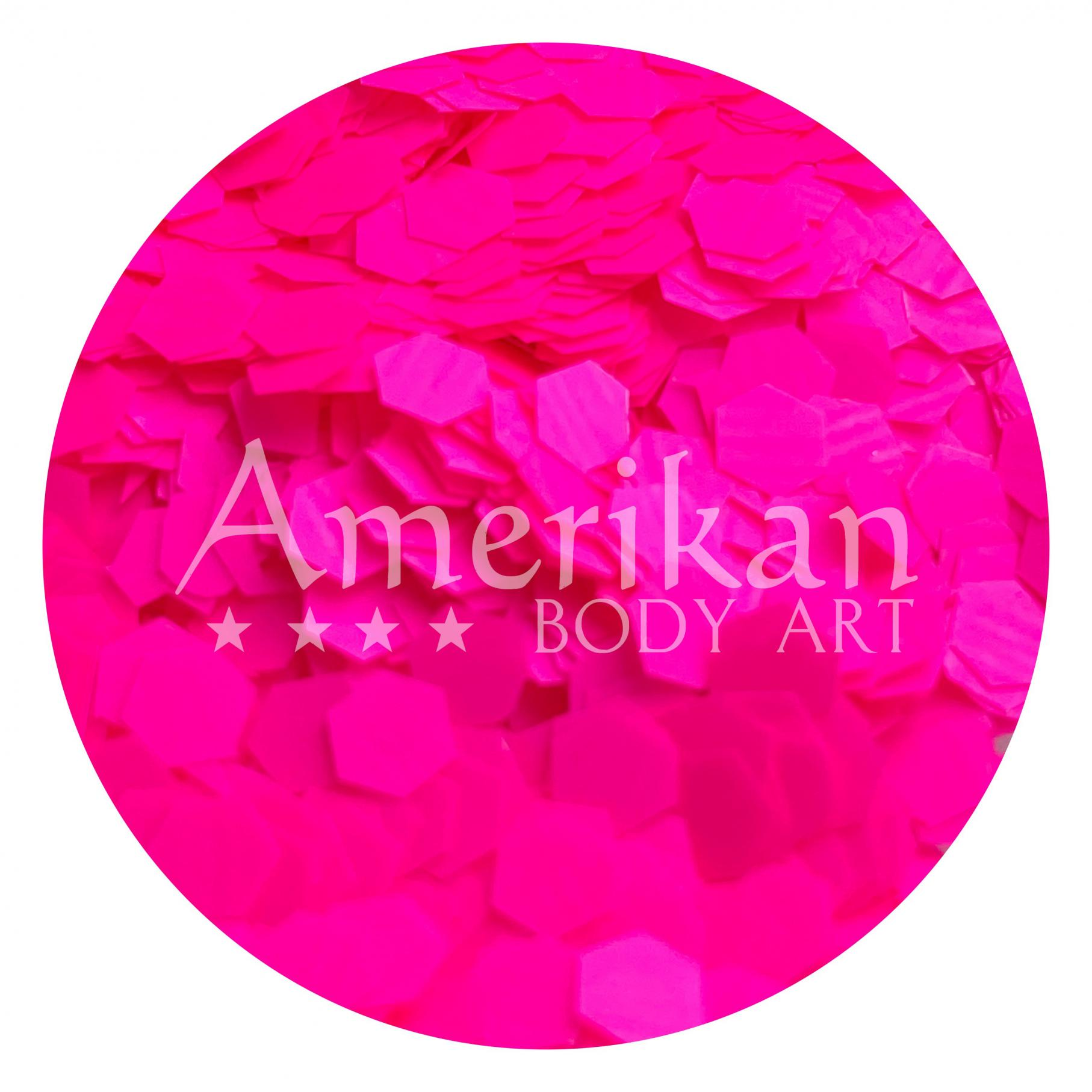 UV Pink Chunky Glitter Flakes (0.125