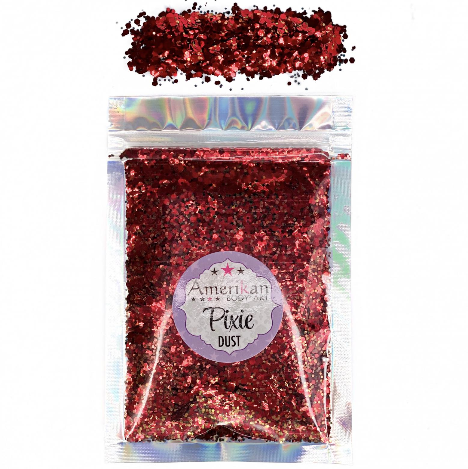 """Drop Dead Red"" Pixie Dust Dry Glitter Blend"