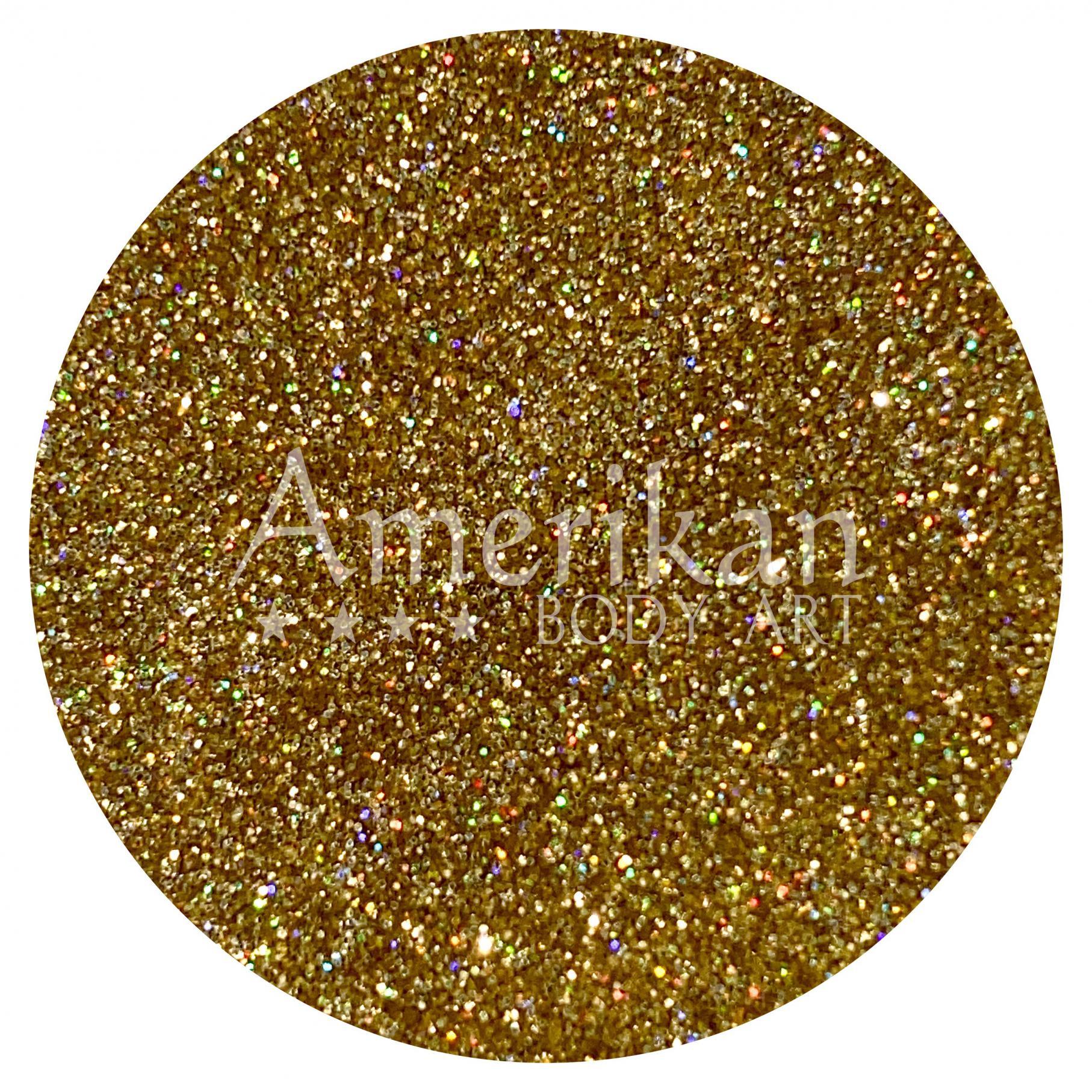 Semi-Holographic Gold Glitter