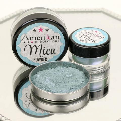Duochrome Blue-Green Mica Powder (discontinued by manufacturer - almost gone)