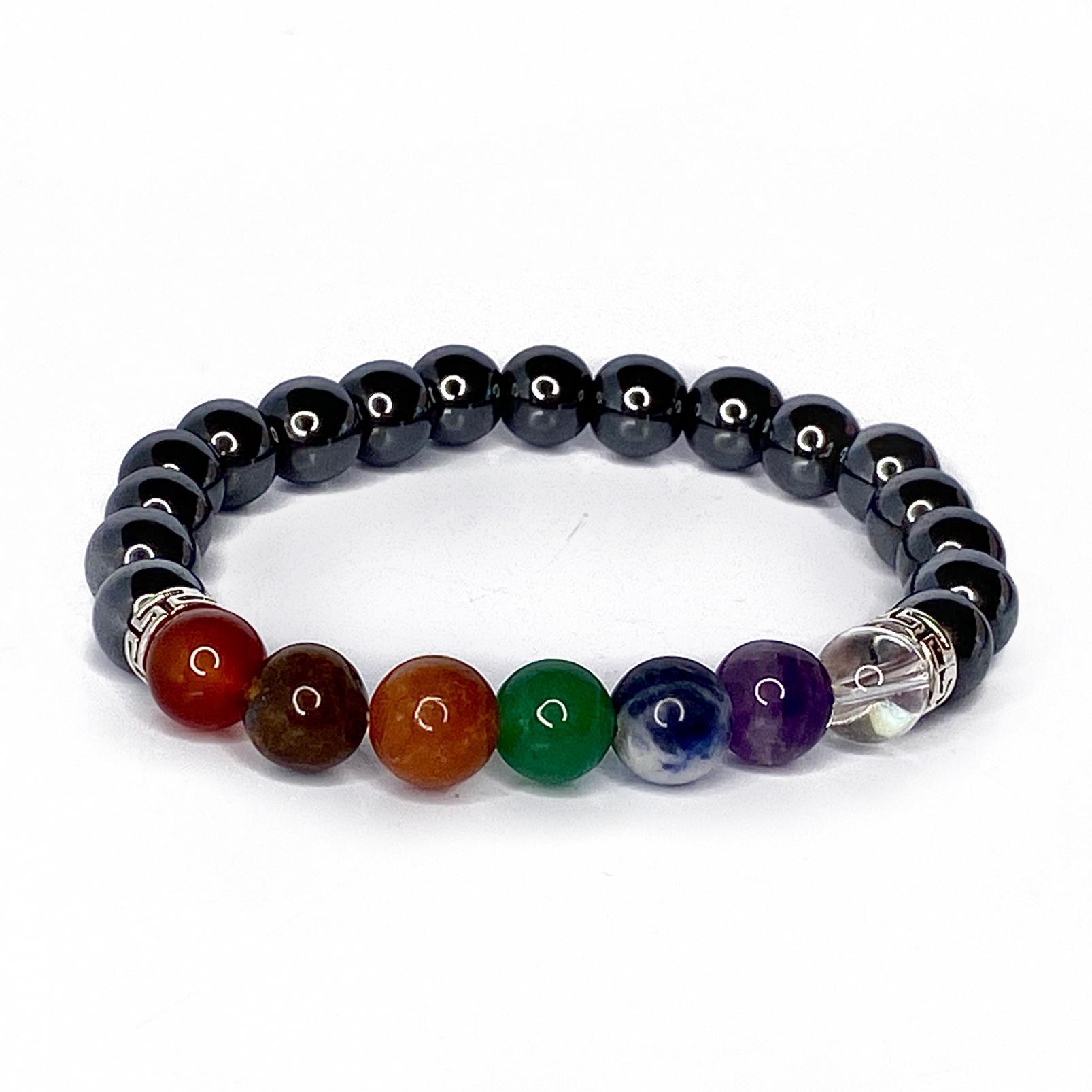 Hematite Crystal  Chakra Bracelet
